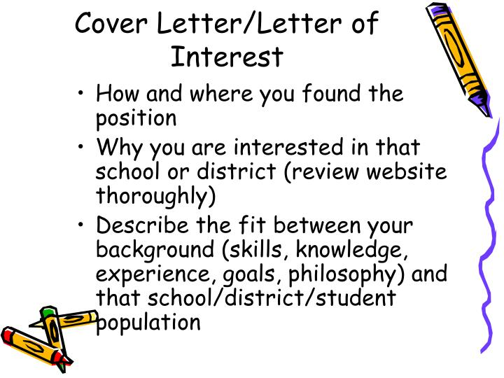 Cover Letter/Letter of Interest