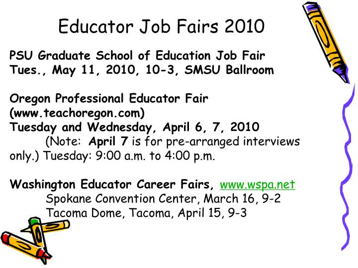 Educator Job Fairs 2010