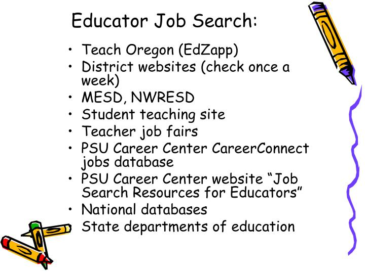 Educator Job Search: