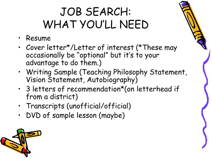 Job search what you ll need