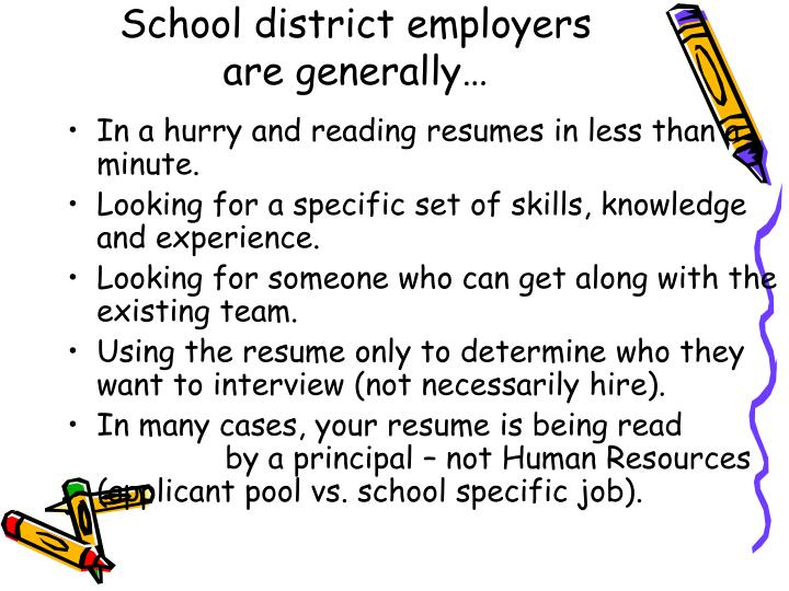 School district employers are generally