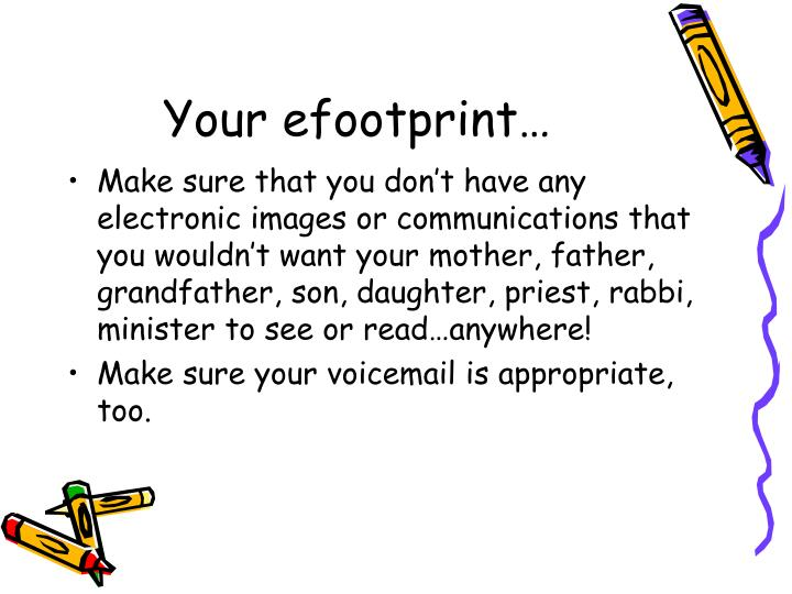 Your efootprint…