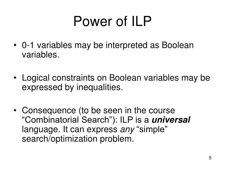 Power of ILP