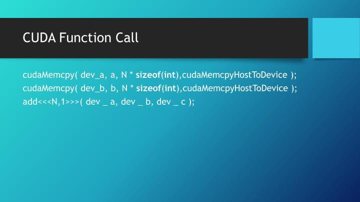 CUDA Function Call