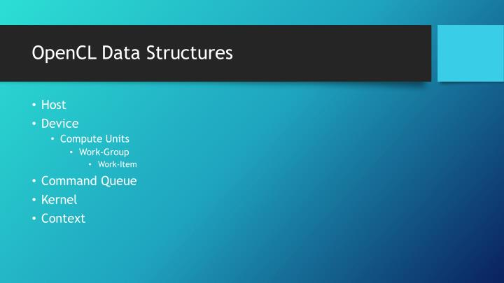 OpenCL Data Structures