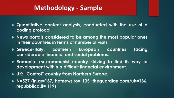 Methodology - Sample