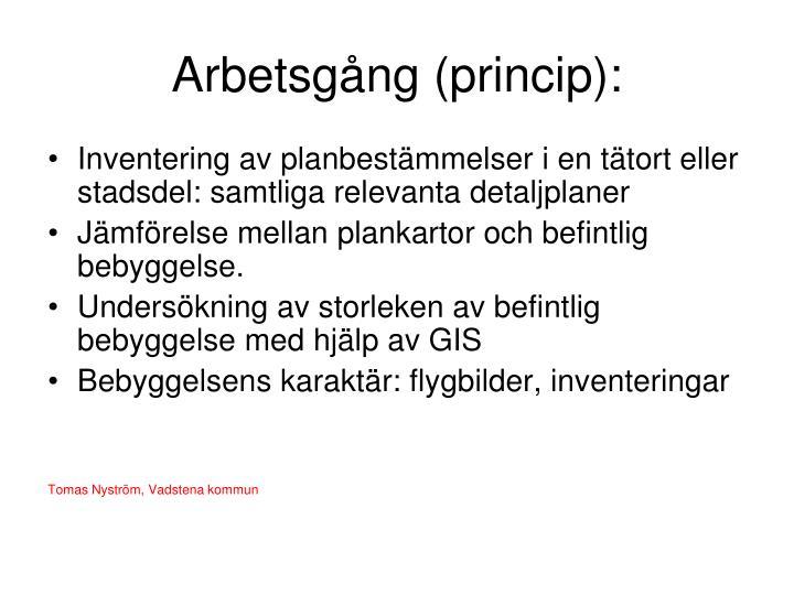 Arbetsgång (princip):