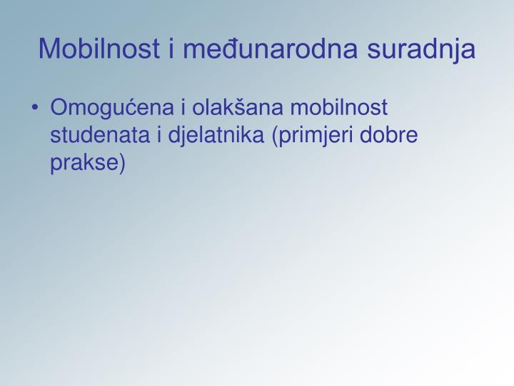 Mobilnost i međunarodna suradnja