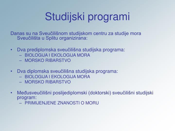 Studijski programi