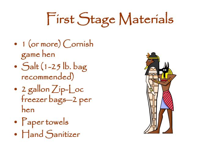 First Stage Materials