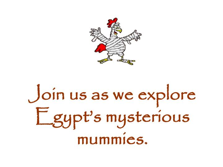 Join us as we explore Egypt's mysterious mummies.