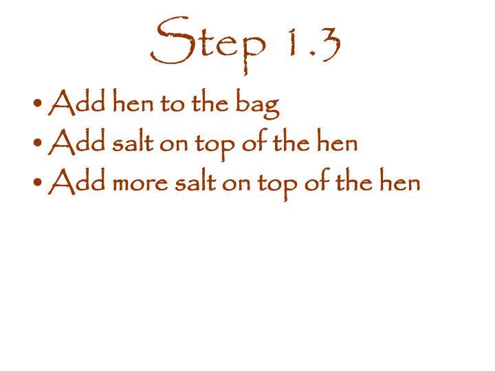 Step 1.3