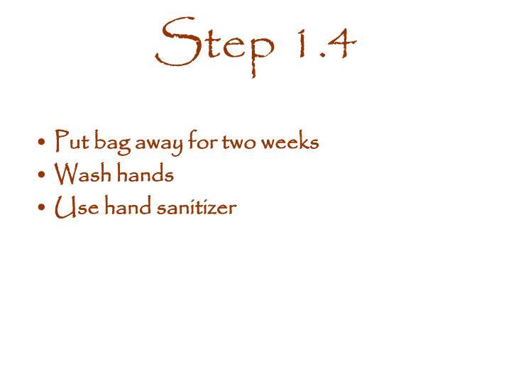 Step 1.4