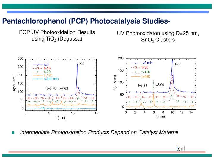 Pentachlorophenol (PCP) Photocatalysis Studies-