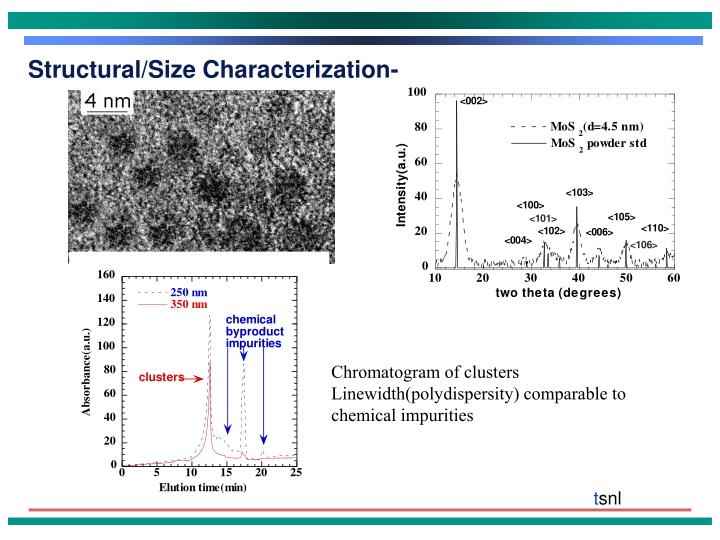 Structural/Size Characterization-
