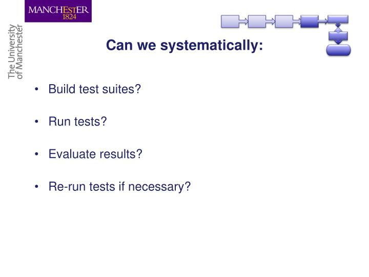 Can we systematically: