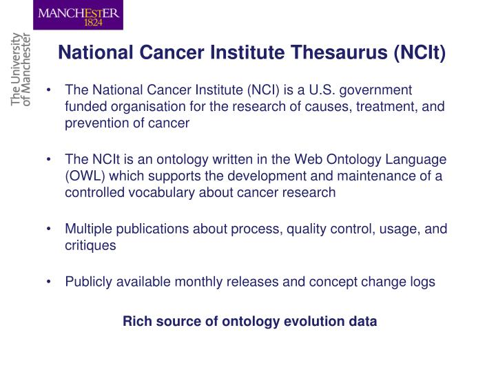 National Cancer Institute Thesaurus (NCIt)
