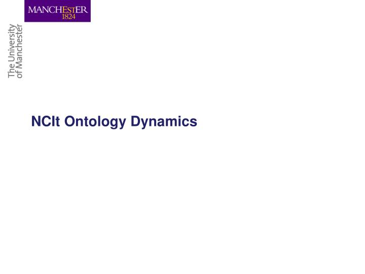 NCIt Ontology Dynamics