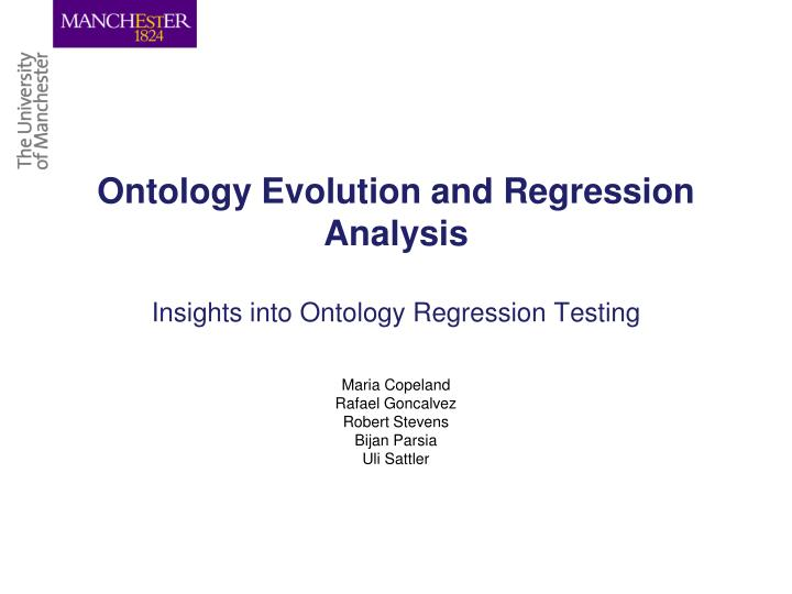 Ontology Evolution and Regression Analysis