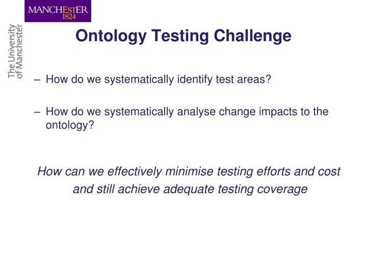 Ontology Testing Challenge