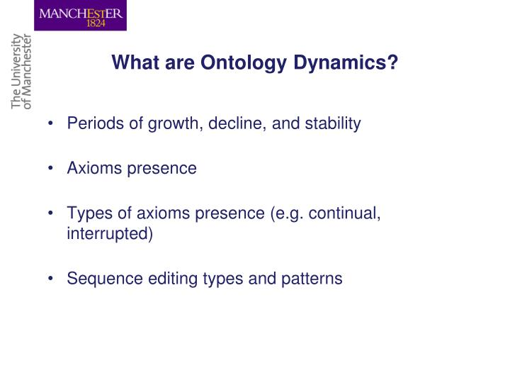 What are Ontology Dynamics?