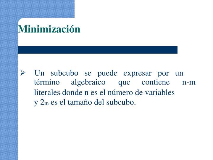 Minimización
