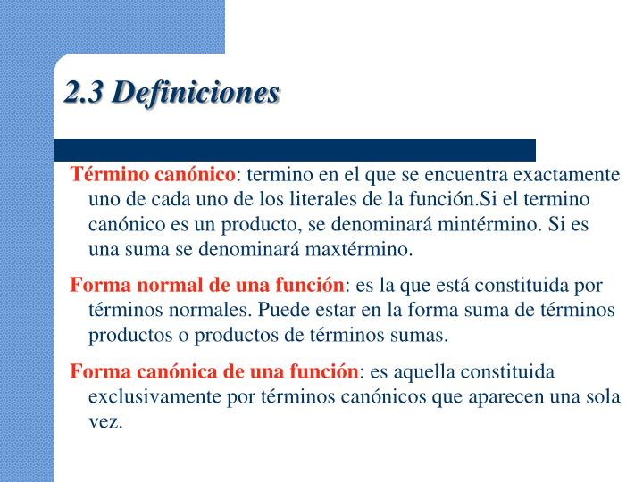 2.3 Definiciones