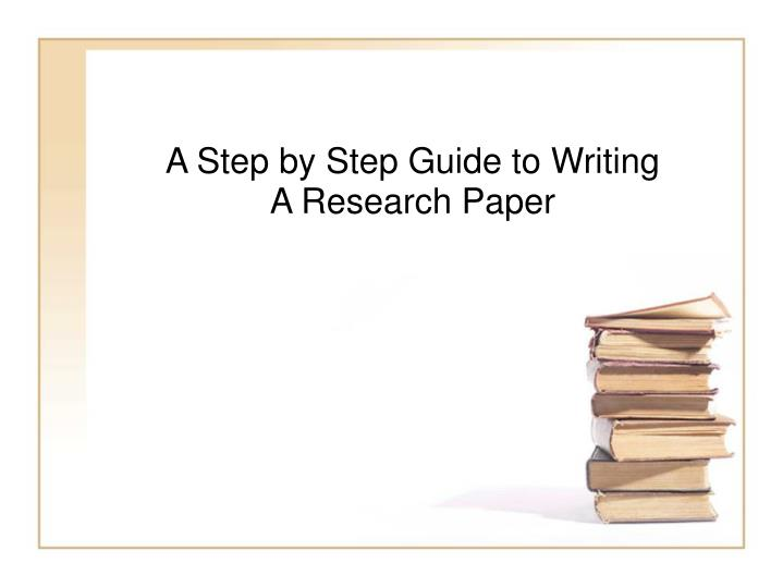 step by step guide to research paper Writing a thesis/ research proposal: a step by step guide connect to download get pdf writing a thesis/ research proposal: a step by paper presented at the.