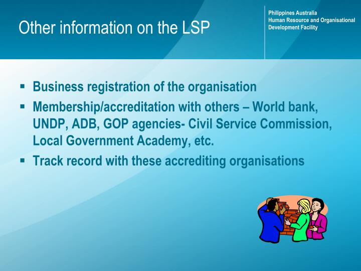 Other information on the LSP