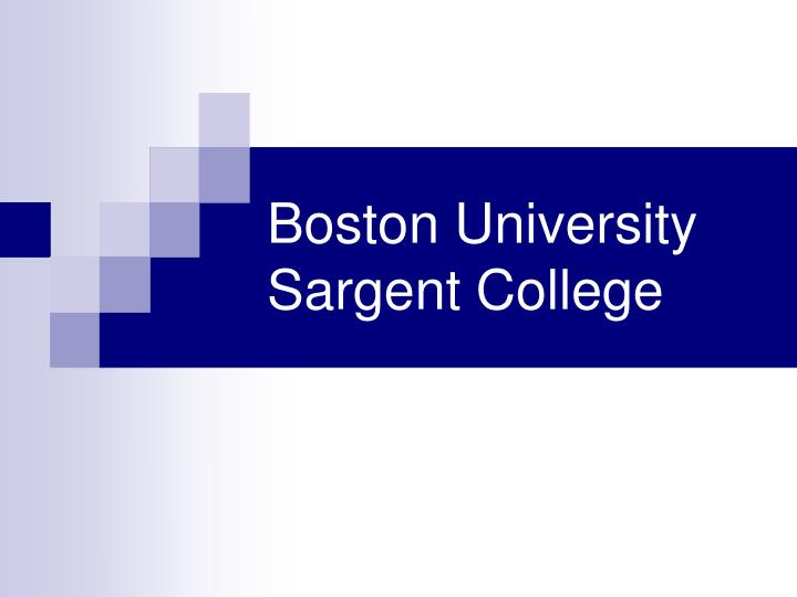 Boston University Sargent College