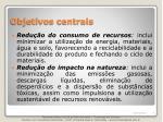 objetivos centrais