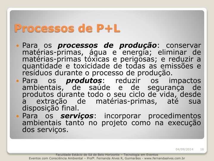 Processos de P+L