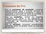 processos de p l