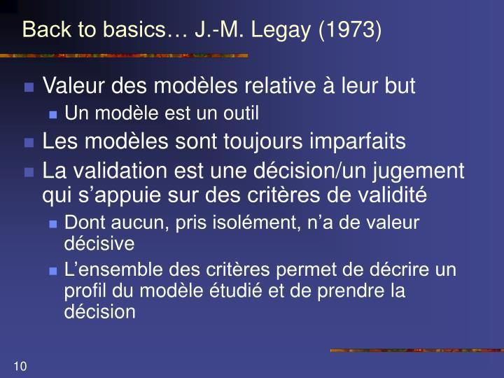 Back to basics… J.-M. Legay (1973)