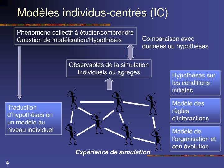 Modèles individus-centrés (IC)