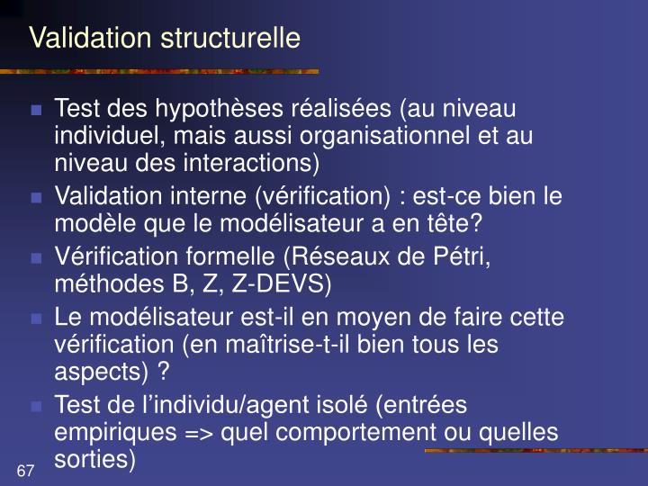 Validation structurelle