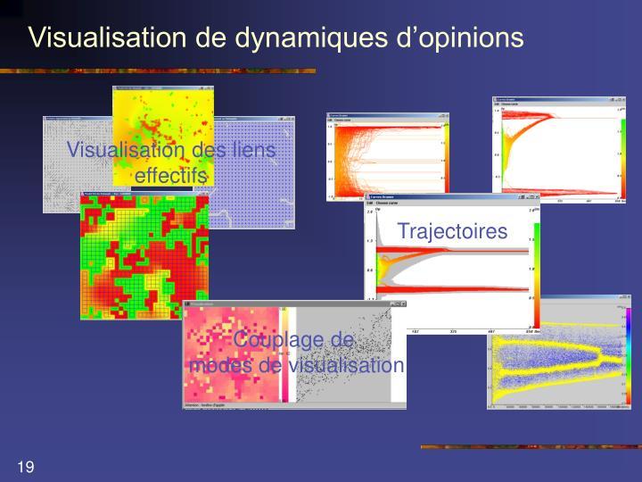 Visualisation de dynamiques d'opinions