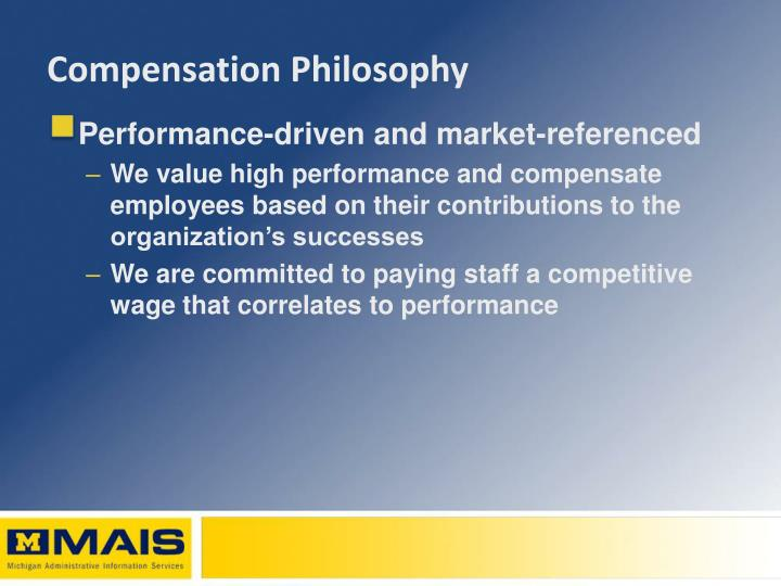 Compensation philosophy