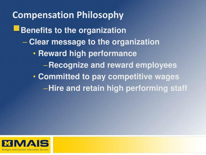 Compensation philosophy1