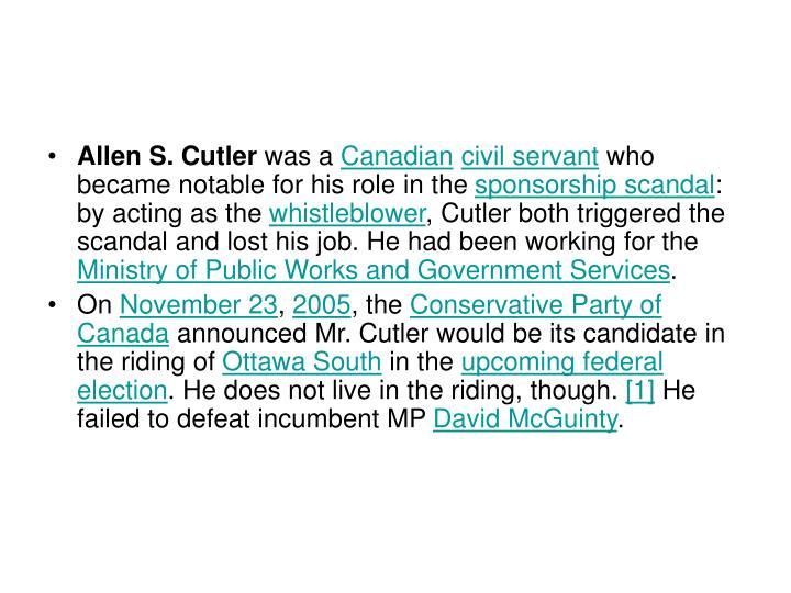 Allen S. Cutler