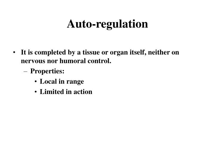 Auto-regulation