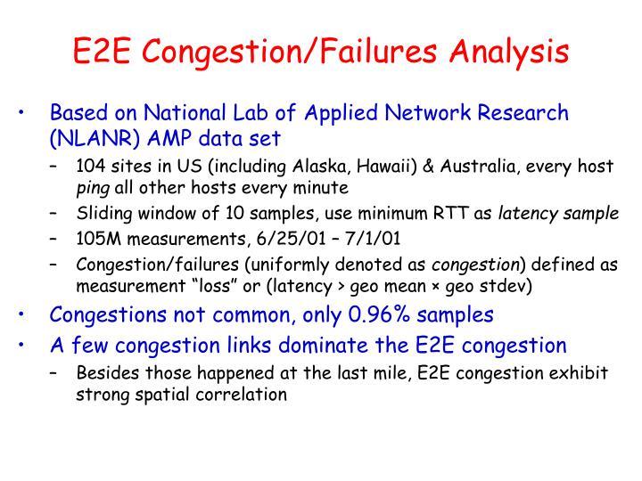 E2E Congestion/Failures Analysis