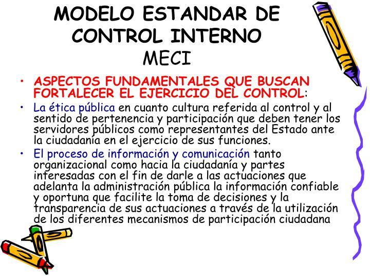 MODELO ESTANDAR DE CONTROL INTERNO