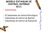 modelo estandar de control interno meci6