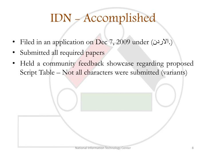 IDN - Accomplished