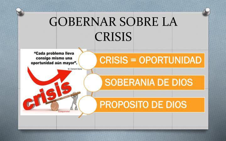 GOBERNAR SOBRE LA CRISIS
