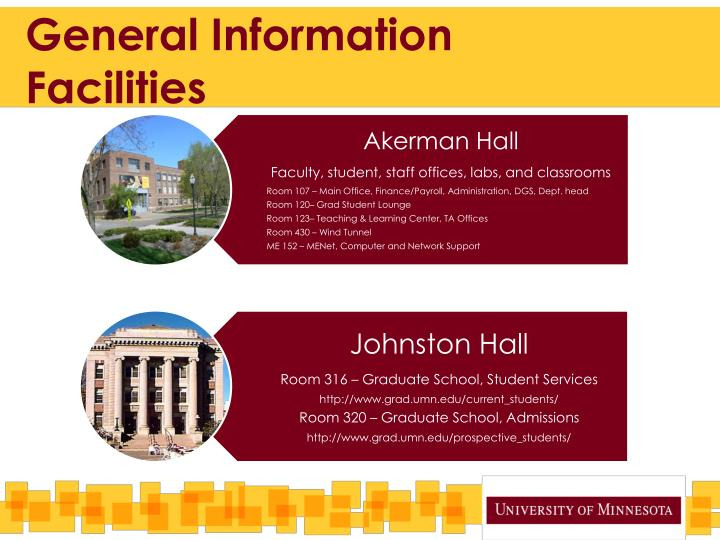 General information facilities