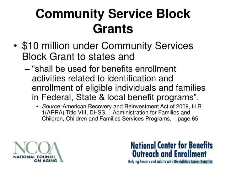 Community Service Block Grants