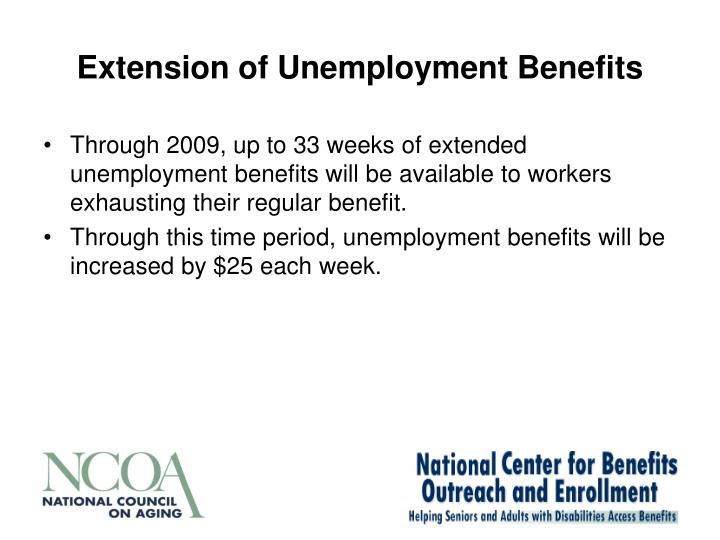 Extension of Unemployment Benefits