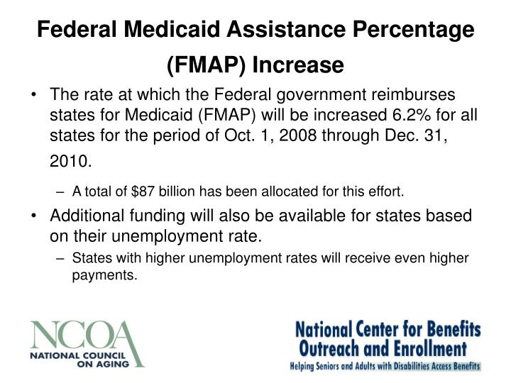 Federal Medicaid Assistance Percentage (FMAP) Increase
